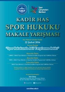 SCM Spor Hukuku Makale Yarışması Afişi