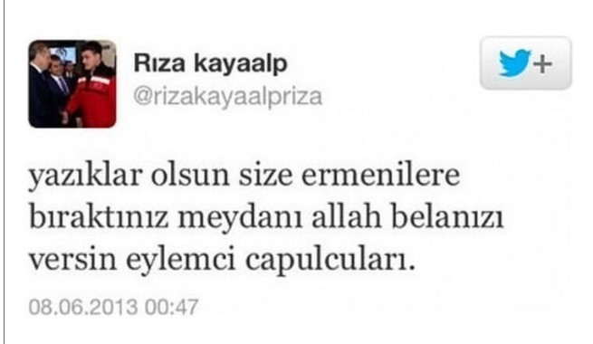 rıza kayaalp tweet